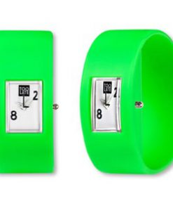 Too Late analog green een dames en heren horloge van 2Toolate