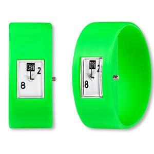 Too Late analog green een dames en heren horloge van 2Toolate