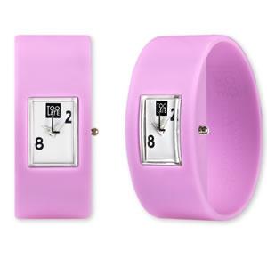 Too Late analog pink bubble siliconen Horloge te koop bij 2Toolate