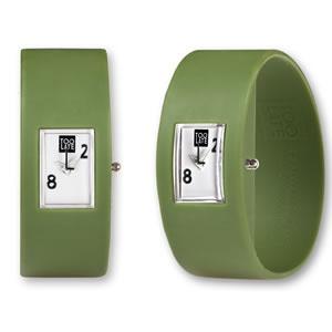 Too Late analog army green watch een trendy horloge van 2Toolate