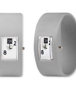 Too Late analog Grey een siliconen armband met een digitaal uurwerk
