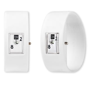Too Late analog White horloge van trendy siliconen rubber
