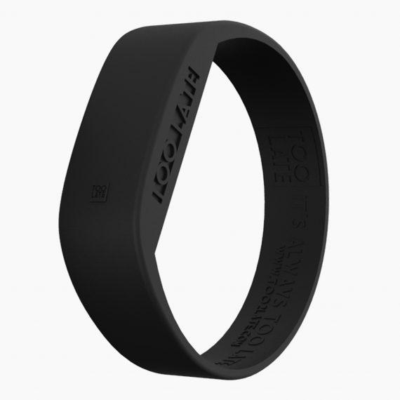 Led Watch Original Black met een Digitaal uurwerk in siliconen armband