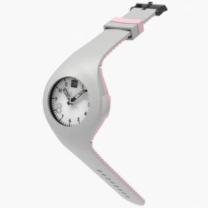 Mash up Bicolor Lightgrey en de kleur Pink uniek horloge van Too2Late