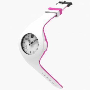 Mash up Bicolor White Acdpink is een Siliconen Horloge van 2Toolate