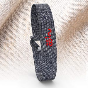 LED WATCH FABRIC Blue Jeans