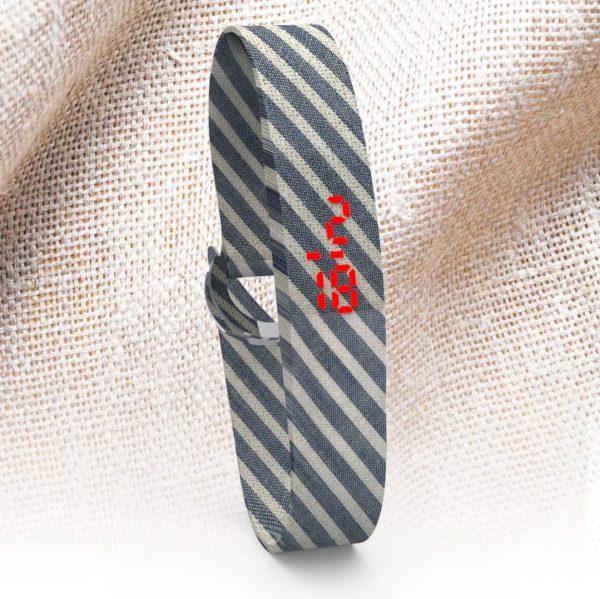 LED WATCH FABRIC Stripes w/b