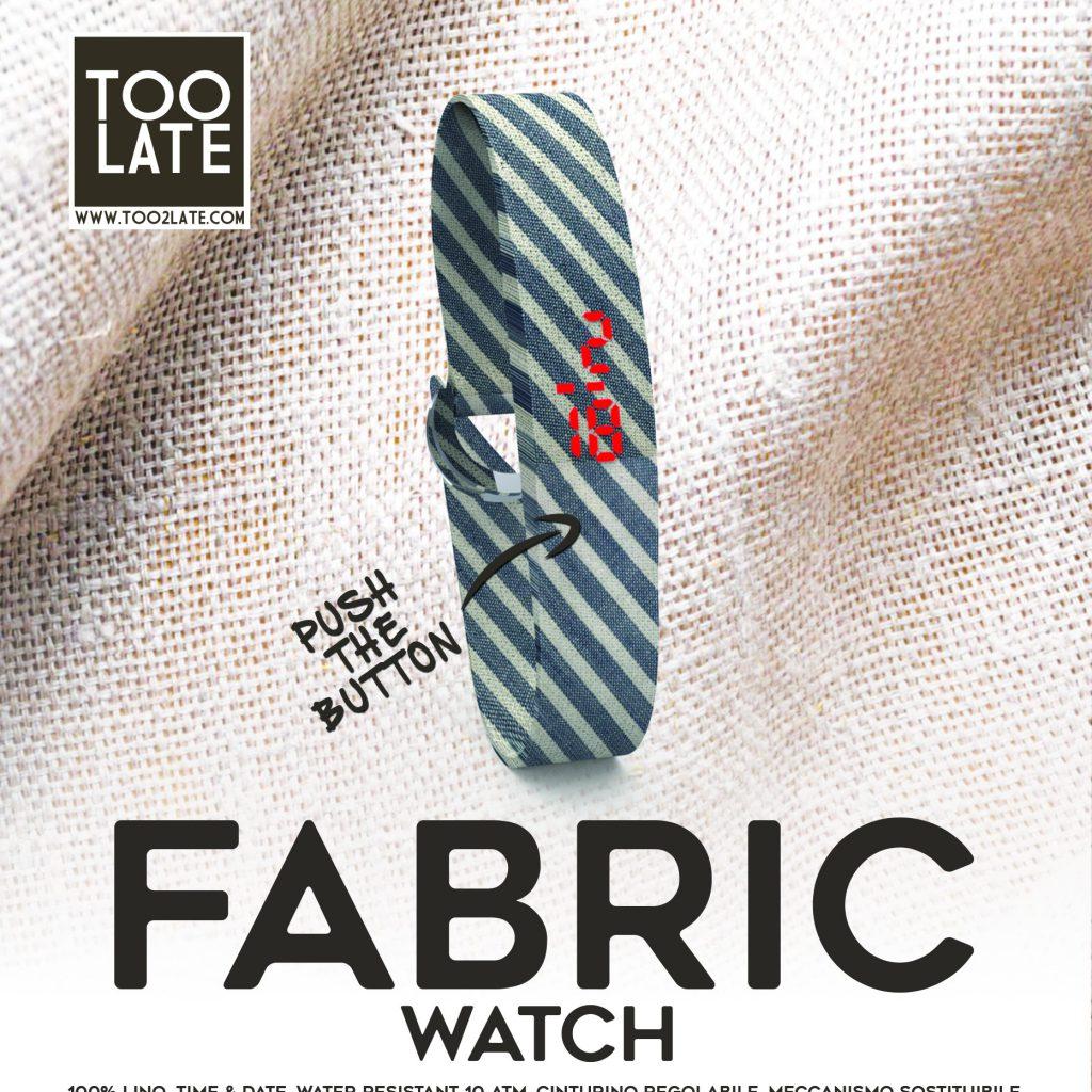 LED WATCH FABRIC LINO