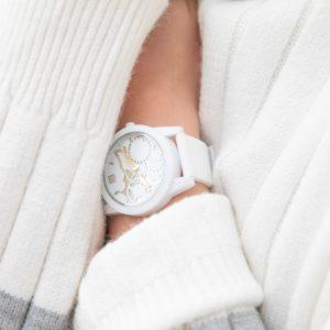 TOO LATE Watch JOY WHITE Gold horloge