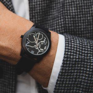 TOO LATE Watch JOY BLACK Silver Horloge