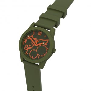 TOO LATE Watch JOY Army Green Orange Ø 39 mm