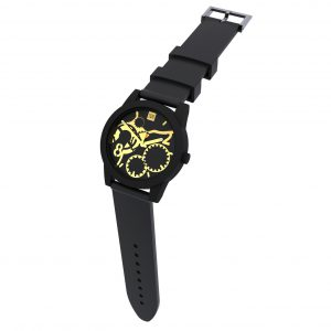 TOO LATE Watch JOY BLACK Gold Ø39mm