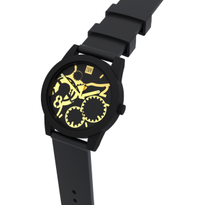 TOO LATE Watch JOY BLACK Gold Ø39 mm