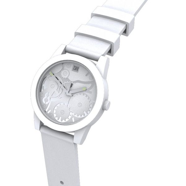 TOO LATE Watch JOY WHITE Silver Ø39 mm