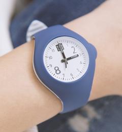 Mash up Bicolor Medium Ø 40 mm Bluejeans Light blue horloge
