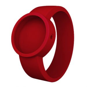 OCLOCK siliconen horlogebandje Donkerrood